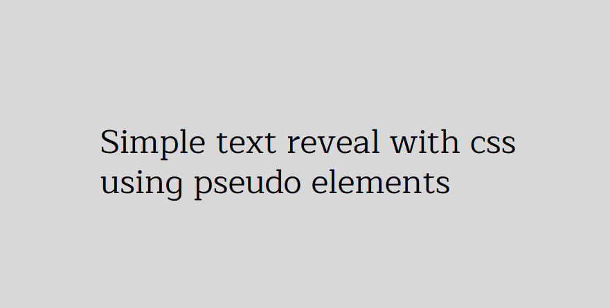 CSS Text Reveal