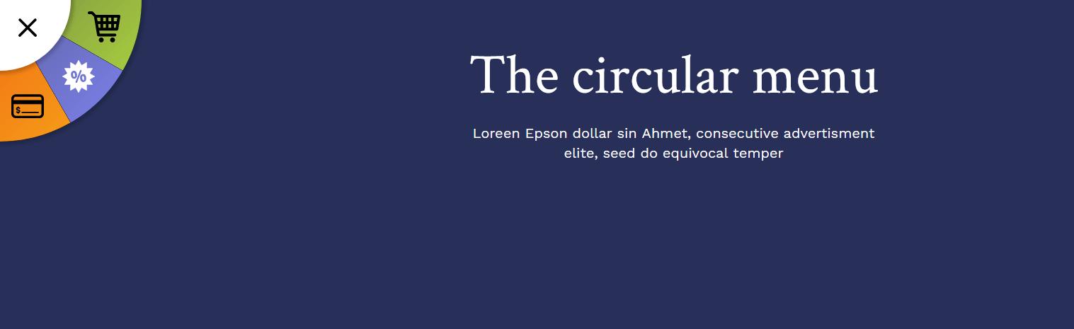 The Circular menu CSS menu designs