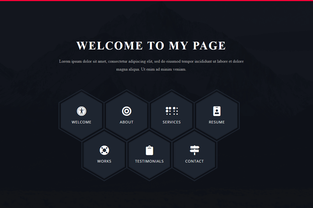Menu with Awesome hover