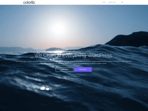 Shapely Free One Page Theme For WordPress