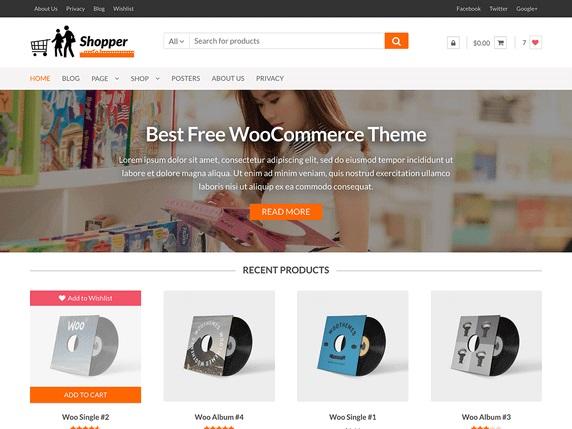 Shopper eCommerce WordPress Theme