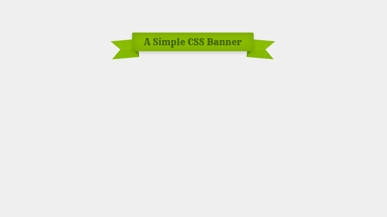Single Element CSS Banner