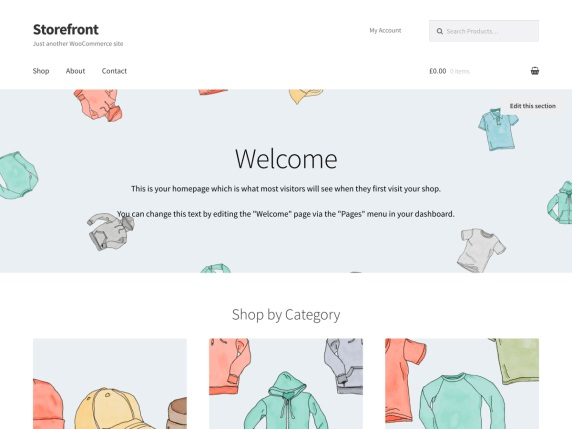 Storefront 1 WordPress theme for WooCommerce