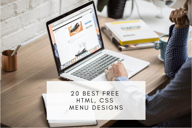 20 Best free HTML, CSS menu designs