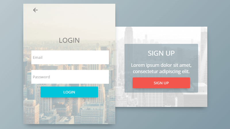 login sign up form concept Free HTML CSS Forms