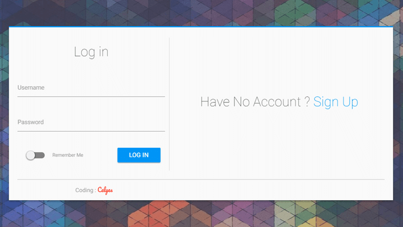 material design login form by celyes