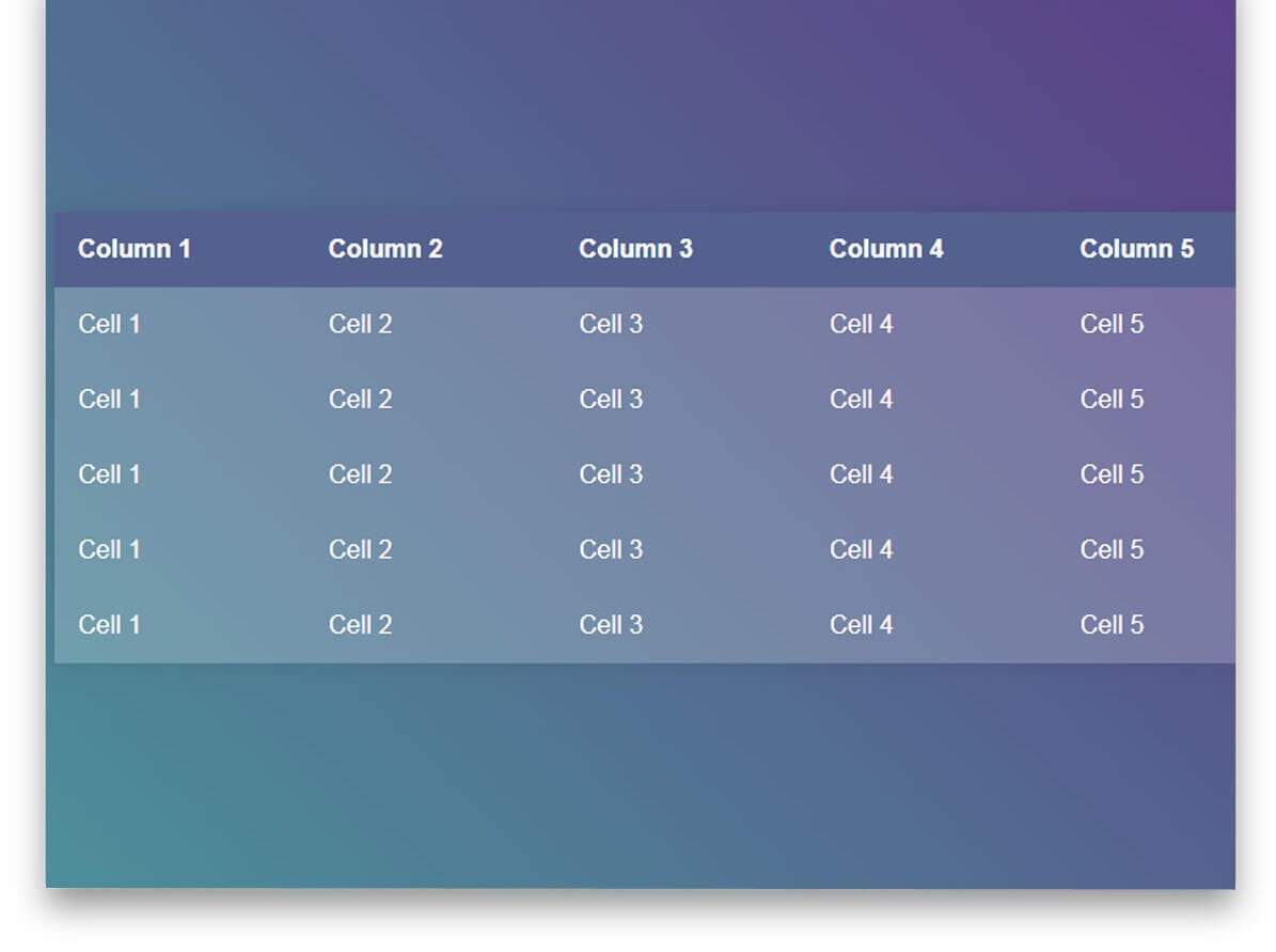 Pure CSS Table Highlight CSS table templates