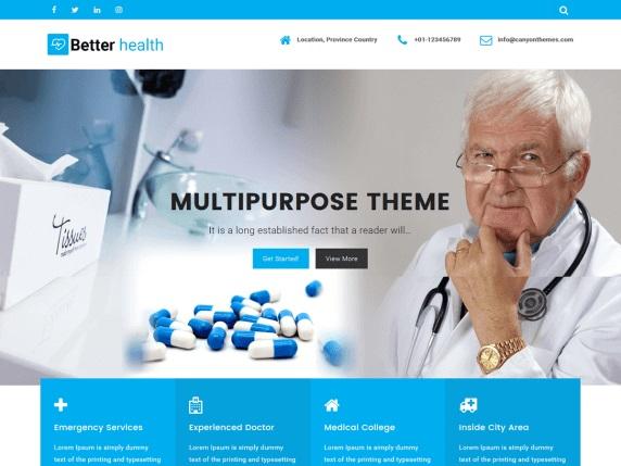 Better Health Medical WordPress Theme