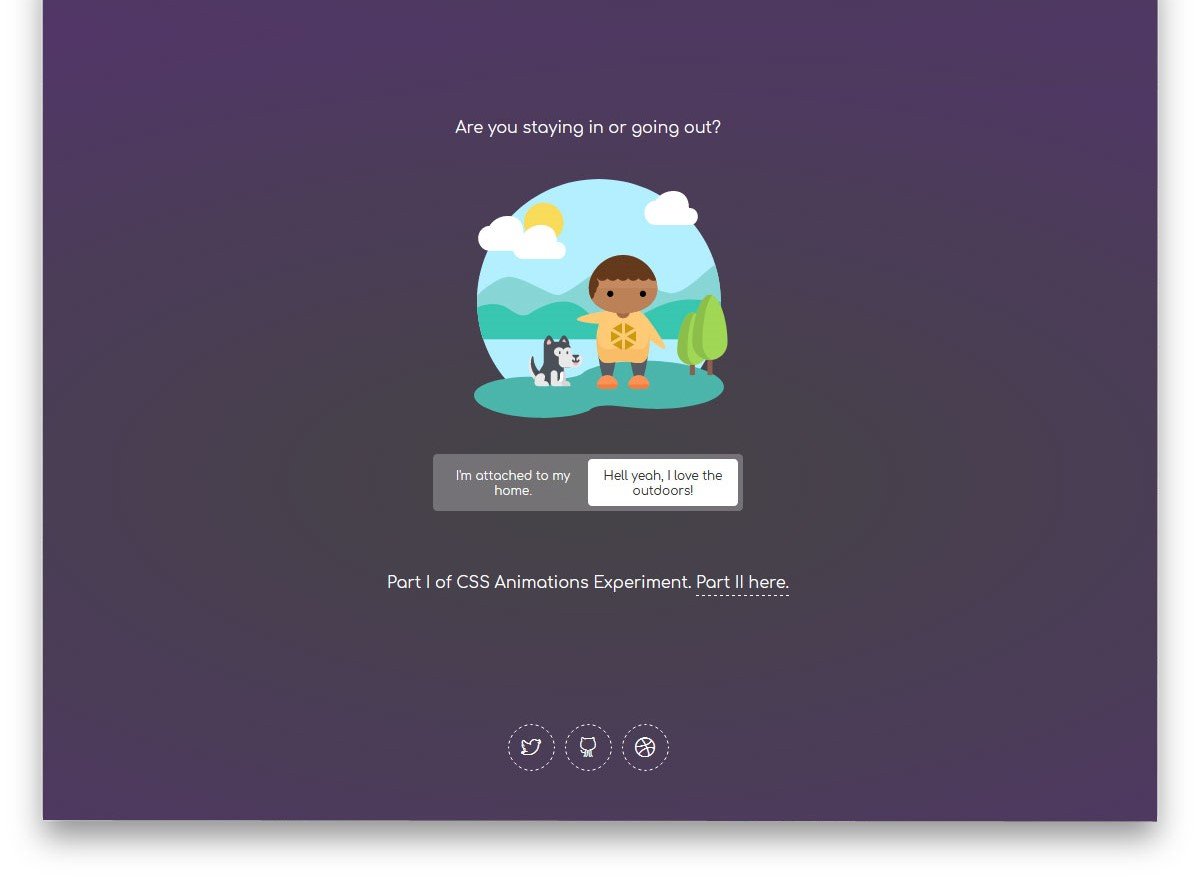 Indoor or Outdoor CSS Animation