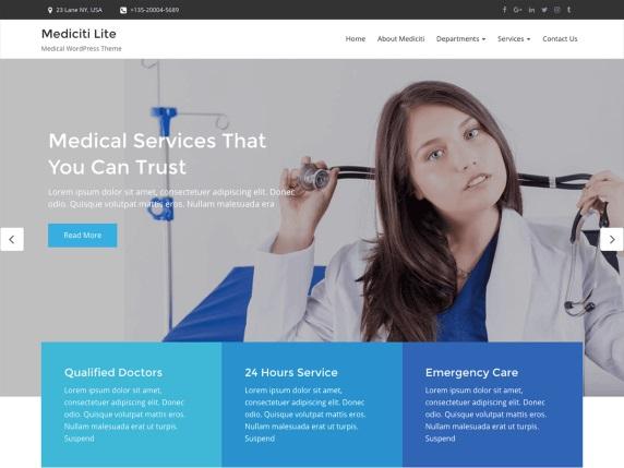 Mediciti Lite Free Medical Theme