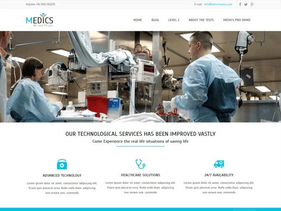 Medics Free WordPress Theme