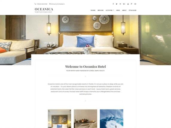 Oceanica Lite Free Hotel WordPress Theme