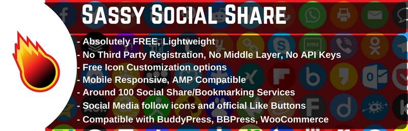 Sassy Social Share Free Social Sharing Plugin