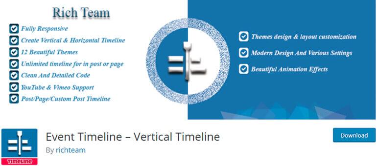 event timeline wordpress timeline plugins