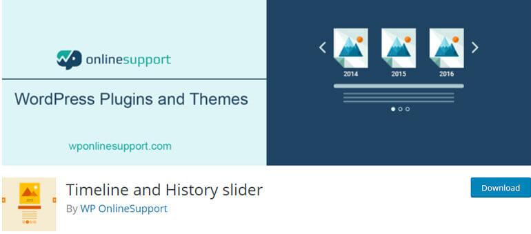 timeline and history slider wordpress timeline plugins