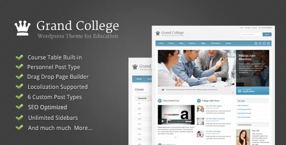 Grand College Best Education WordPress Theme