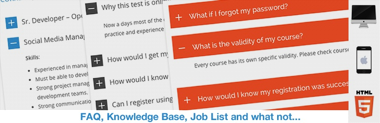 HTML5 Responsive FAQ Free WordPress Plugin