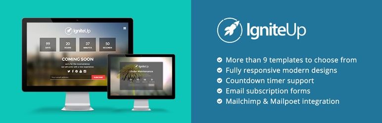 IgniteUp Free WordPress Coming Soon Plugin