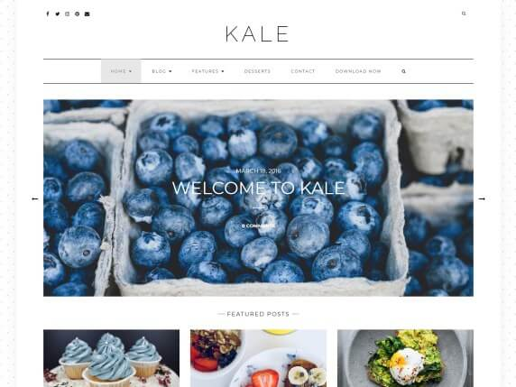 Kale Free Food WordPress Theme
