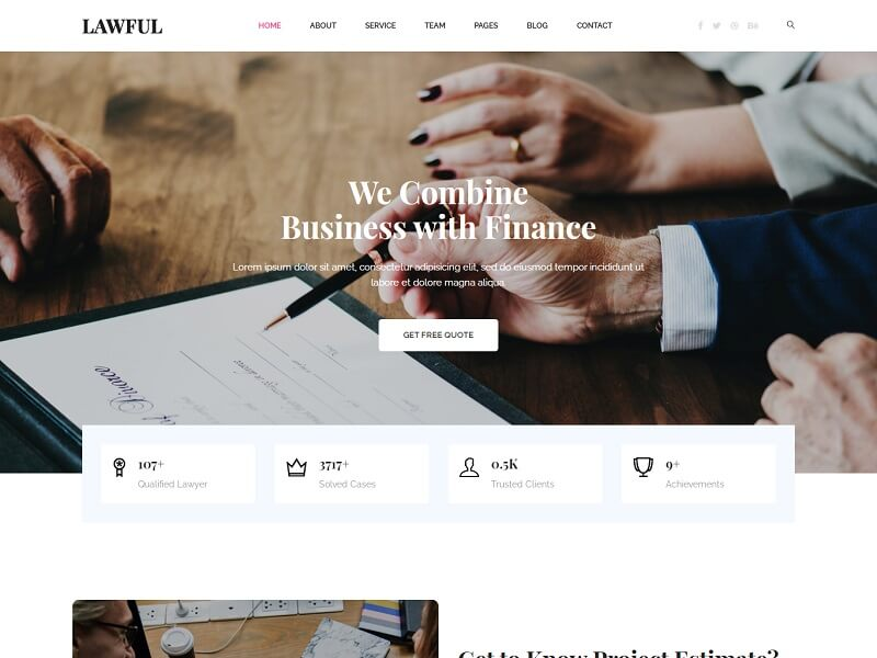 Lawful Free HTML Website Template