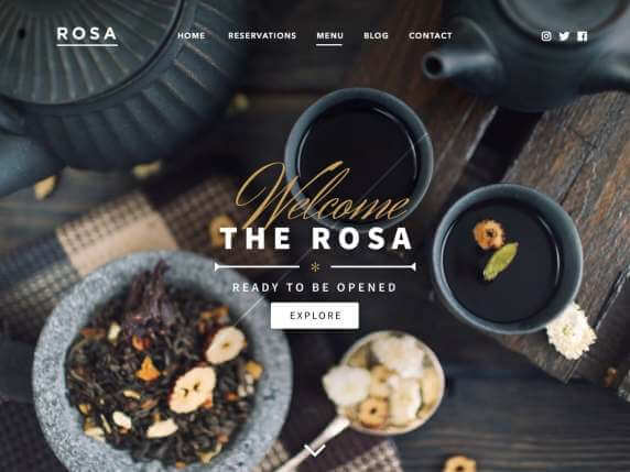 Rosa Lite Food WordPress Theme