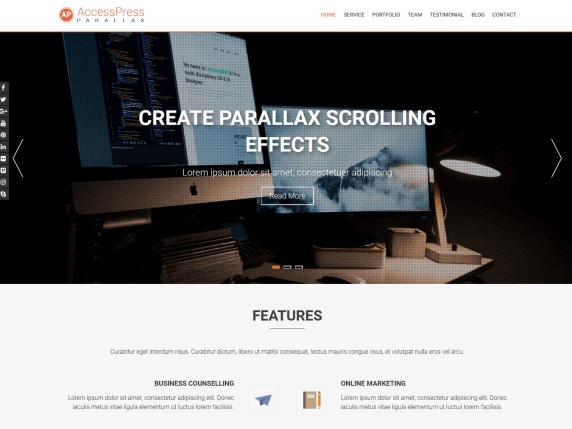 AccessPress Parallax WordPress Theme