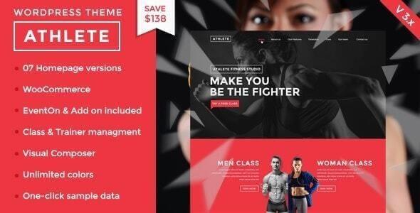 Athlete Fitness wordpress theme