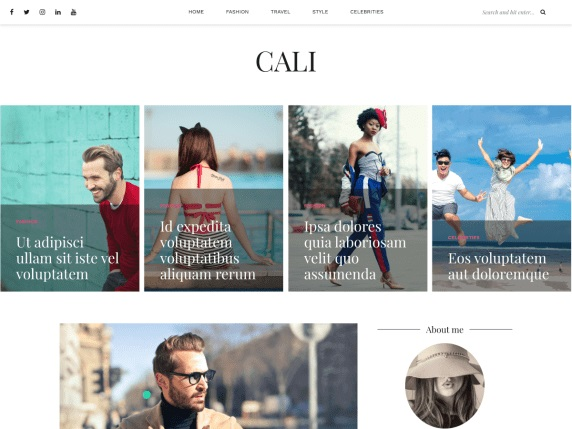 Cali WordPress Theme