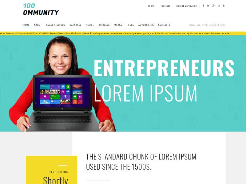 Community Free HTML Template