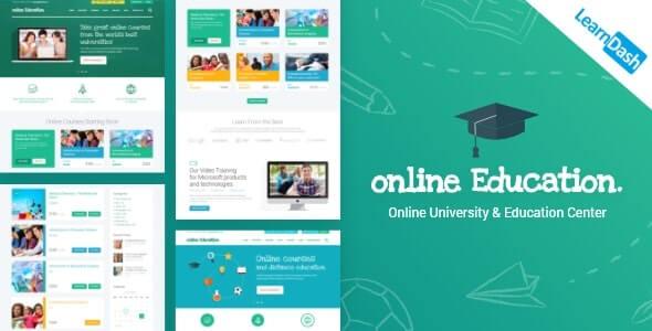 Education Center Online Course theme