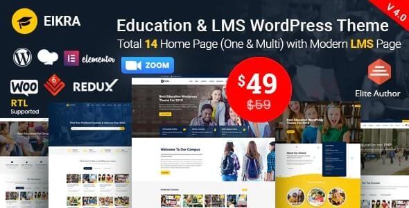 Eikra Online eLearning theme