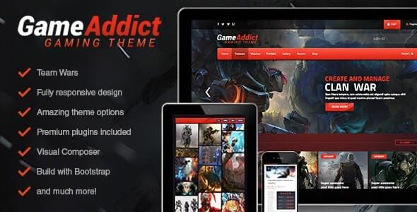 Game Addict Best WordPress Gaming Theme