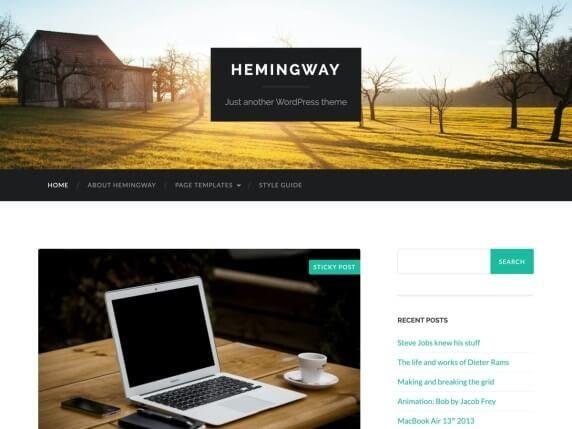Hemingway Free Parallax Theme