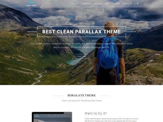 Himalayas Free parallax Theme