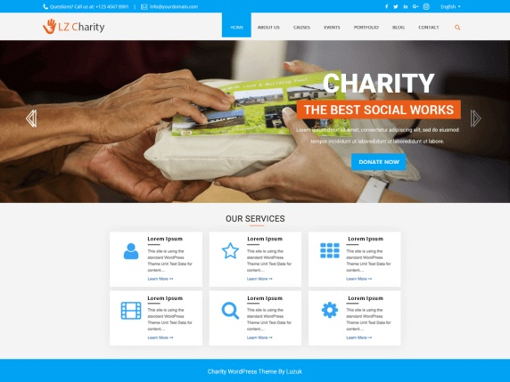 LZ Charity Welfare wordpress theme