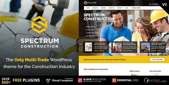 Spectrum Construction theme for wordpress
