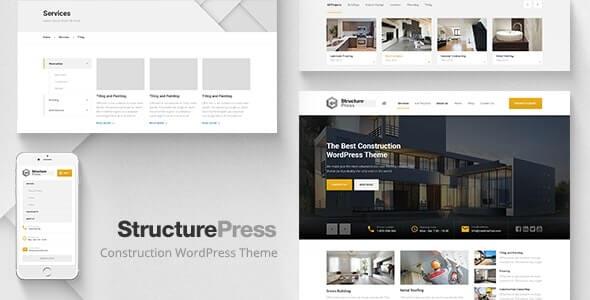 StructurePress wordpress Construction Theme