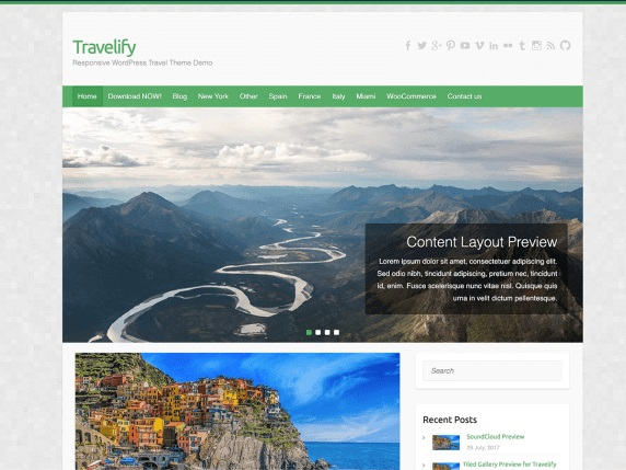Travelify free Travel Blog Theme