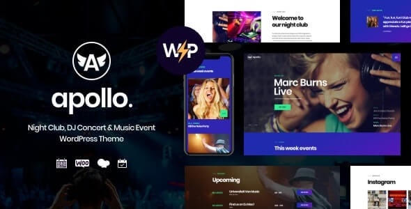 Apollo Nightclub WordPress Theme