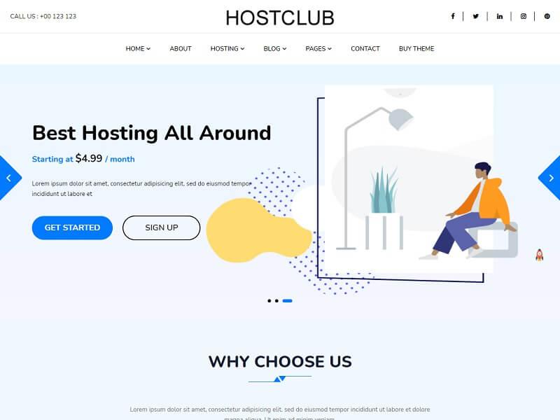 Hostclub Pro Best Hosting WordPress Theme