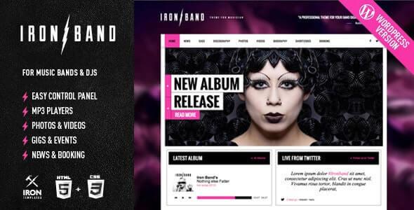 IronBand Music WordPress Theme