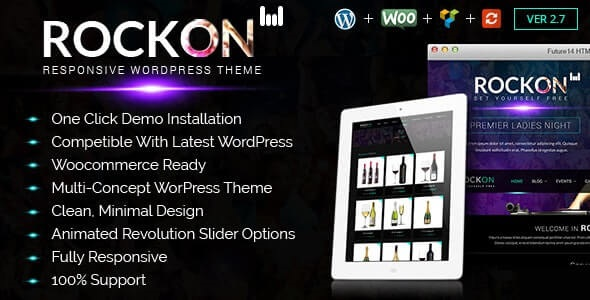 Rockon WordPress Nightclub theme