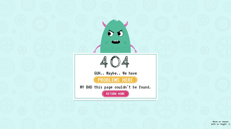 404 Page CSS Character