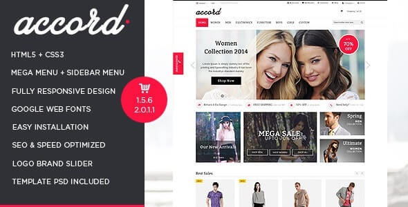 Accord Best Selling Opencart Theme