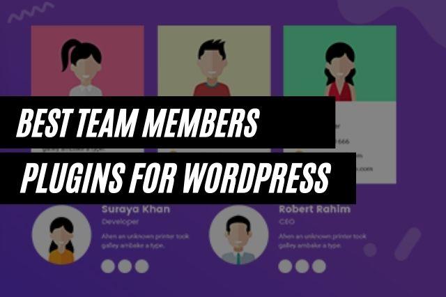 Best WordPress team Members Plugins