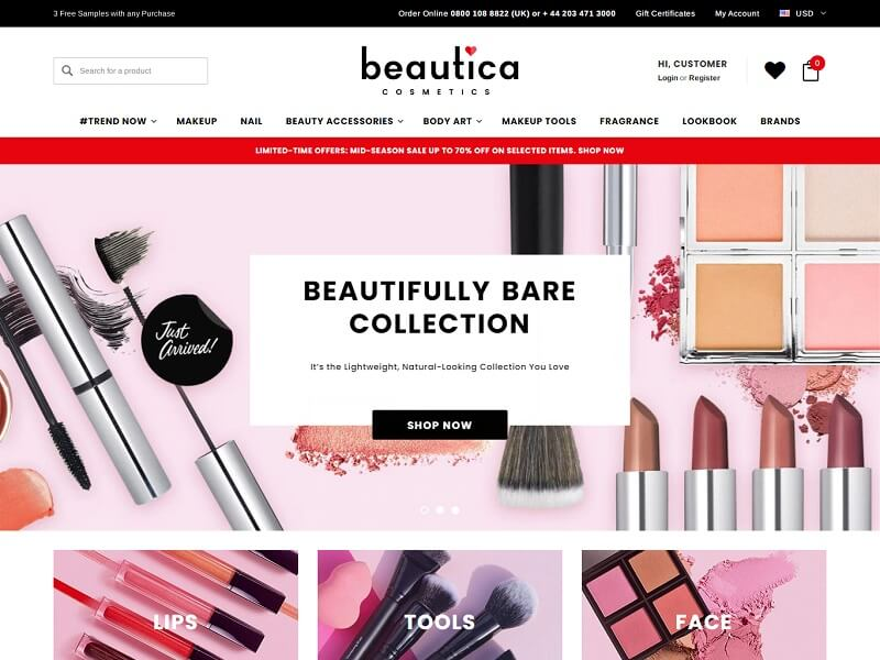 Beautica BigCommerce Theme