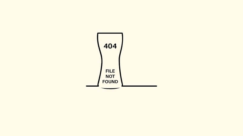 Beer 404 Pages