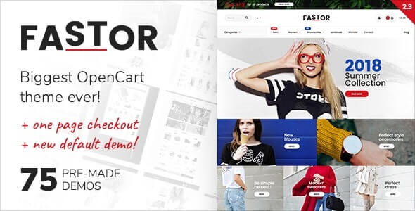 Fastor Best Selling Theme For OpenCart
