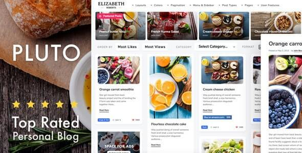 Pluto Pinterest Style Theme For WordPress