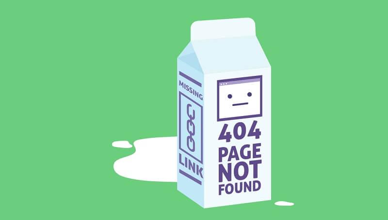 SVG Animation 404 Error Milk Carton